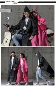 Image 4 - Hot Koop EVA Regenjas Vrouwen/Mannen Rits Hooded Poncho Motorfiets Regenkleding Lange Stijl Wandelen Poncho Milieu Regen Jas