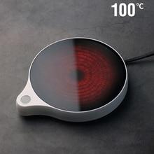 200W Cup Heater Mug Warmer 100°C Hot Tea Makers Warmer Coaster 5 Gear Cup Heaters Coffee Milk Tea Heating Pad 110V/220V