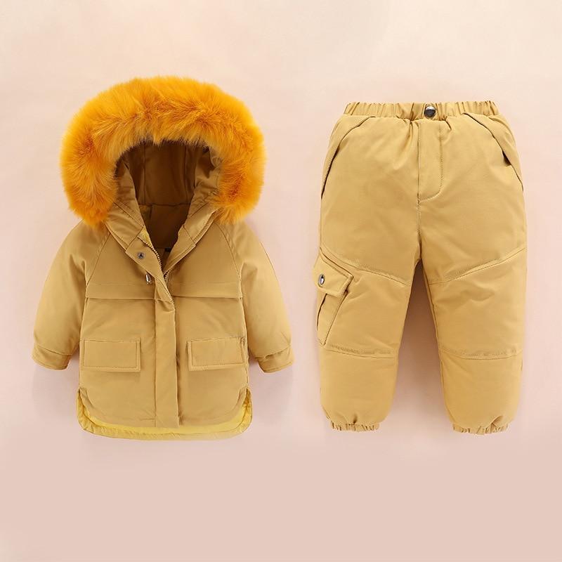 ULKNN russie hiver bébé costume à capuche blanc canard doudoune salopette bébé fille Snowsuit 1-5 ans enfants infantile garçon manteau combinaison