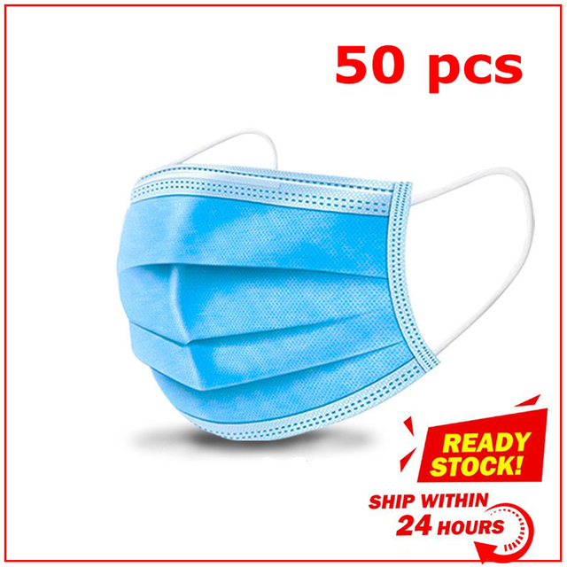 S L disposable face mask adult children Antivirus flu Nonwove 3 Layer Ply Filter Mouth Face Mask Meltblown CE FDA