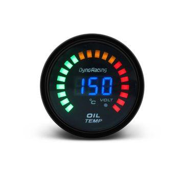 2 #8222 52mm samochód cyfrowy analogowy wskaźnik temperatury oleju Auto olej termometr Temp Gauge tanie i dobre opinie OOTDTY 58mm 167g