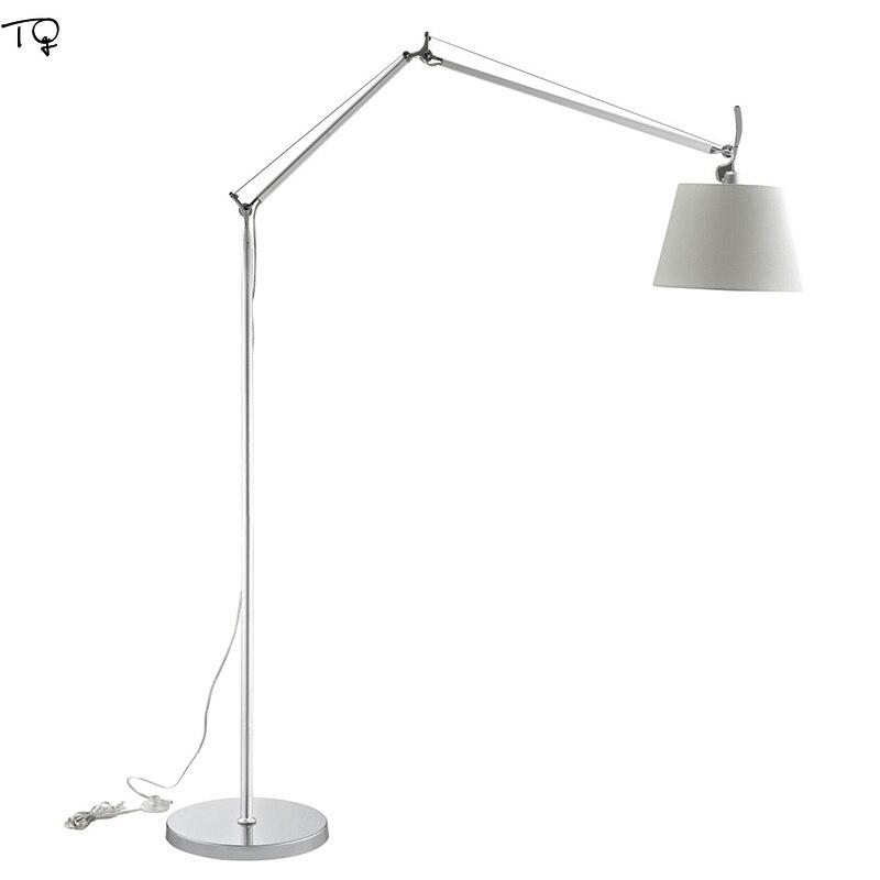 Nordic Designer Artemide Tolomeo Maxi Floor Lamp Swing Arm Adjustable Led Standing Lamp Study Office Studio Bedroom Living Room