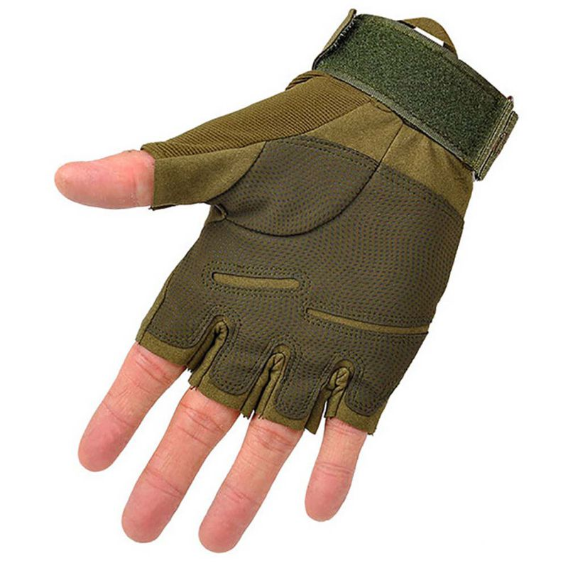 Brand Outdoor Sports Fingerless Military Tactical Hunting Riding Gloves New Arrival