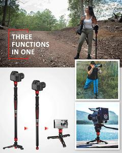 """Image 5 - ifootage A150S II profissional tripod for camera phone stand monopod for dslr match manfrotto 59"""" Aluminum Telescopin tripode"""