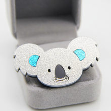 2020 nova austrália koala broches para mulheres meninas crianças bonito dos desenhos animados animais colar acrílico broche jóias saco pinos de alta qualidade