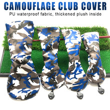4pcs Camouflage Golf Clubs Head Covers Set Headcover Drivers Fairway Protective Covers Golf Club Accessories(China)