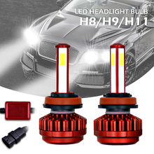 цена на LED Headlight Kit 100W H8 H9 H11 12000LM 6000K All-In-One High Low Beam Bulbs Automotive LED Headlamps for Cars Autos