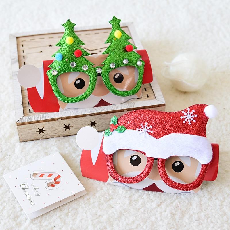 Рождественские украшения игрушки для взрослых детей рождественские очки Санты Снеговик рога очки рождественские украшения очки