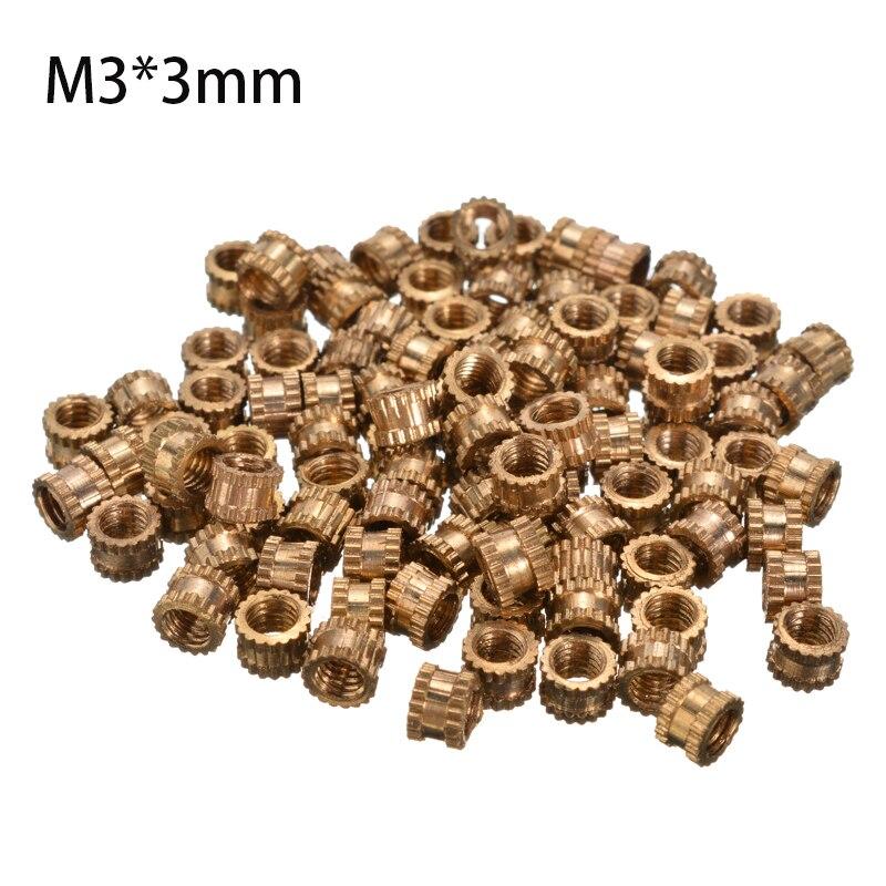 Tuercas de inserción de rosca de Metal de 100 Uds. 4,2mm de diámetro redondas M3 * 3mm de tono de latón roscado 10 juegos/lote 6,3 macho cuadrado insertado terminal con DJ7021-6.3-11 de plástico