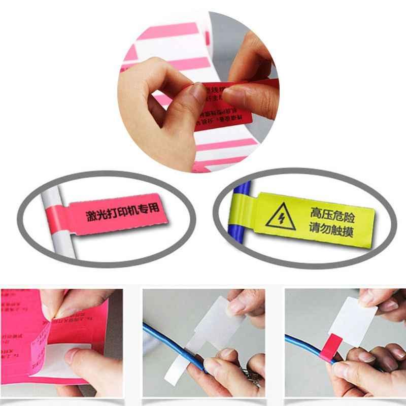 Etiquetas adhesivas de Cable de 30 piezas etiquetas de identificación impermeables funcionan con impresora láser M89B