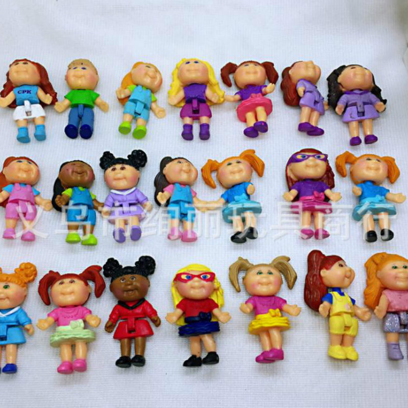 30PCS/lot Hot Sale Mini Cute Girl Doll 4CM Cartoon Action Figures Home Decoration Birthday Gift