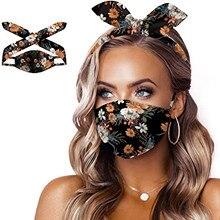Headband Decorative-Mask Washable Face-Cover Mscara Facial 3-In-1 -2 Cloth Masque Masque