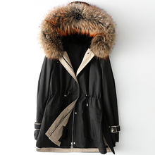 Для женщин средней длины из меха енота куртка для собаки осень