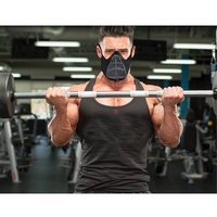 Esporte máscara treinamento treino máscara de alta altitude exercício acessórios com 6 nível regulador de fluxo de ar para correr biking fitness|Máscara facial p/ ciclismo| |  -