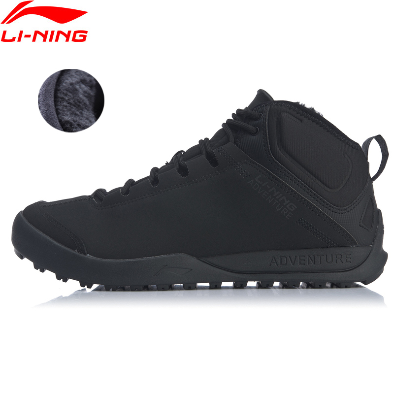 Li-Ning Men UNSTOPPABLE TIGER Outdoor Shoes Warm Fleece LiNing Li Ning Durable Sport Shoes Lifestyle Sneakers AHCN013 YXB247