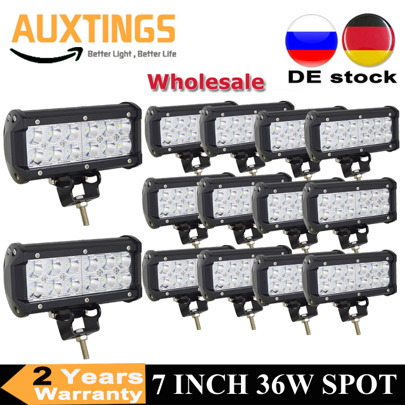 "10-40PCS 7"" inch 36W LED Work Light Bar Spot Driving Offroad Lamp 4WD Boat ATV UTE Tractor 10-30V"