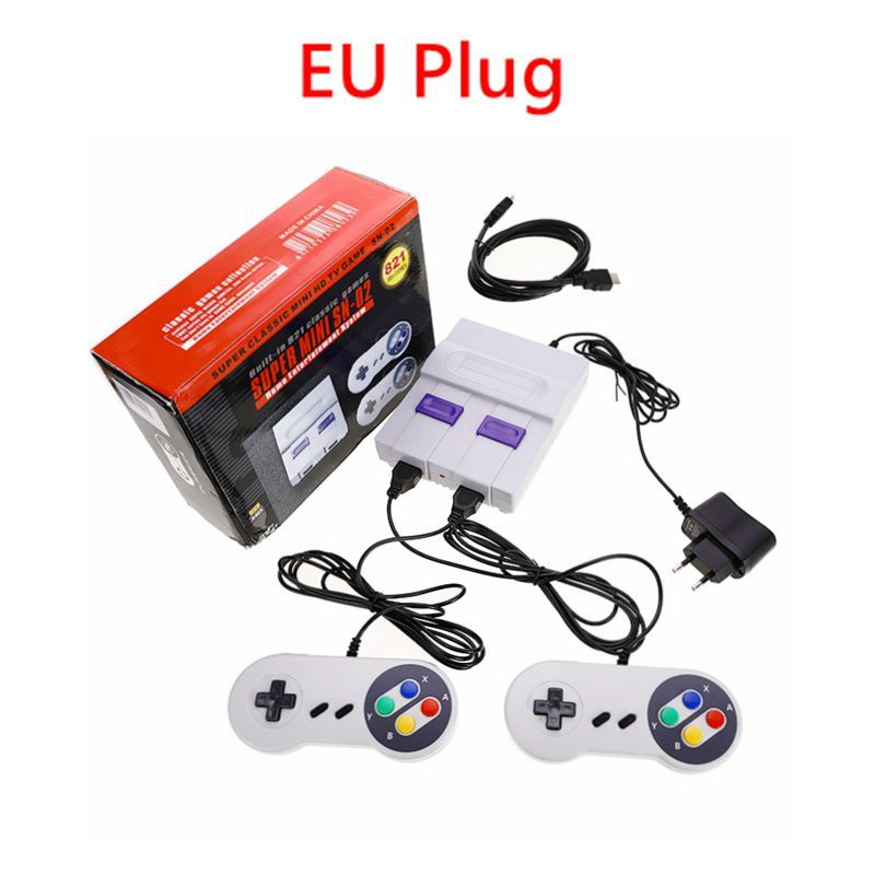 8Bit HD HDMI TV Retro Family Video Game Console Handheld Built-in 821 Classic Game for SNES Games Dual Gamepad Player US/EU Plug