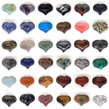 Love Heart Shaped Natural Stone Pendant Jewelry Making DIY Accessories Healing Crystal Bulk Handmade Tumbled Gemstone Wholesale