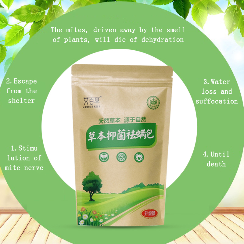 Image 5 - 10 Bags Mite Killer Natural Herbal Antibacterial Except Bag Women  Baby Bed Bugs Cleaner Insecticide Wormwood Locust PasteRepellents   -