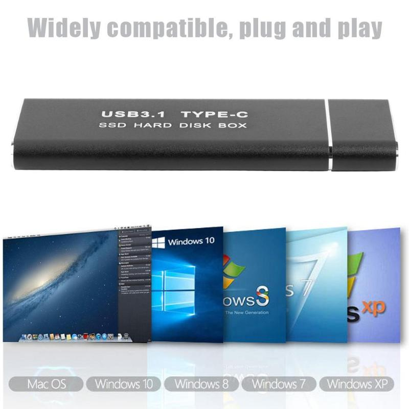 Image 3 - Metal USB3.1 Type C SSD Adapter M.2 NVMe PCI e Solid State Drive Case Computer peripheralsAC/DC Adapters   -