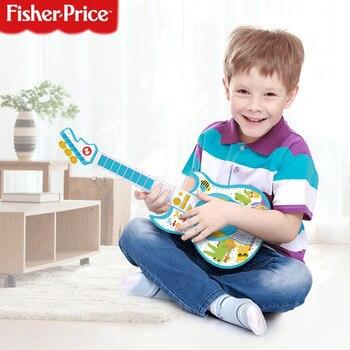 FISHER-PRICE multi-fonctionnel enfants guitare électronique basse-jouer des Instruments de musique pour enfants jouet éducatif enseignement de la musique