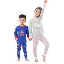 Children Pajamas-Set Unicorn-Costume Baby Cotton Cartoon Boy Tshirt Autumn Pants Suit