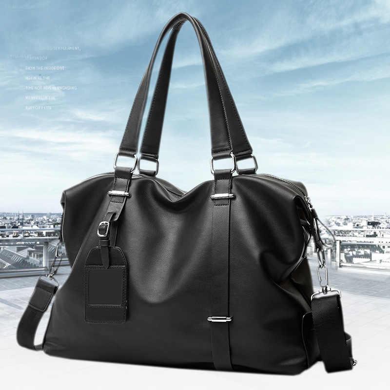 Bolsa de viaje para hombre, bolsa de lona de cuero para hombre, bolsas de equipaje de mano, bolsas de viaje impermeables para fin de semana