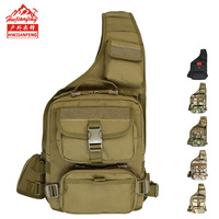 Outdoor Portable Single Shoulder Backpack Multi functional Wallet Men And Women Mountain Climbing Travel Waterproof Camouflage S