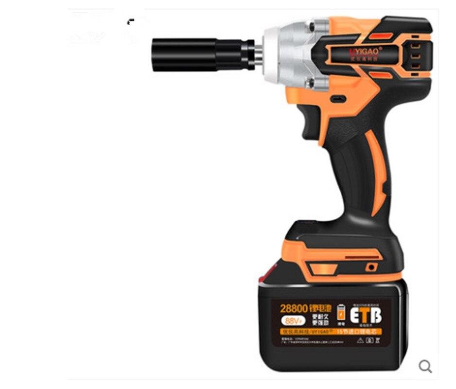 5800rnp 16800mah sem escova sem fio chave de impacto elétrica recarregável bateria de lítio roda carro mão broca ferramentas elétricas eua plug