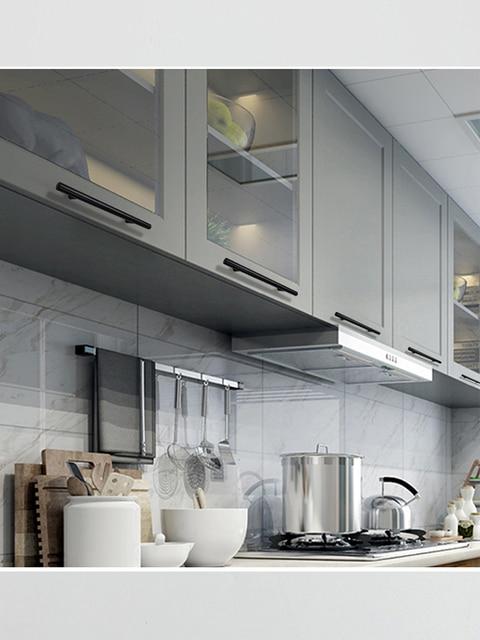 Acier inoxydable cuisine porte armoire T barre poignée tirer bouton armoire boutons meubles poignée placard tiroir poignée