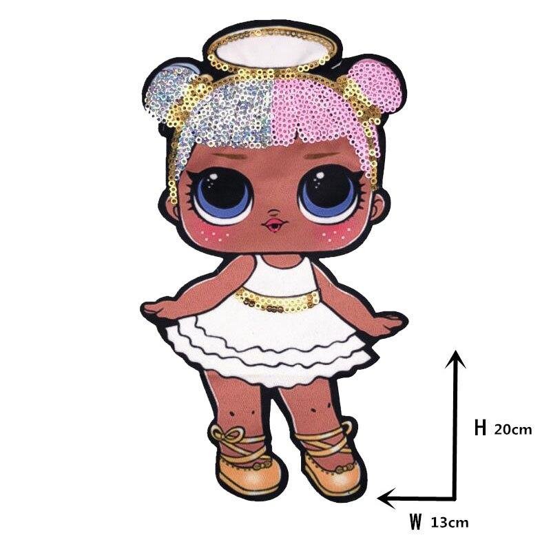 Мультяшные нашивки женские модные куклы лол для девочек Милая Модная Кукла-мальчик вышивка на одежду ручная работа украшение одежды Блестки Ткань - Цвет: WW-24