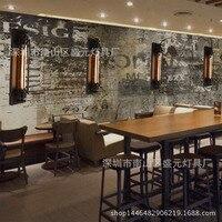 Americano estilo flauta lâmpada de parede do vintage industrial estilo ferro arte parede luz restaurante corredor bi gua deng lumin interior|  -