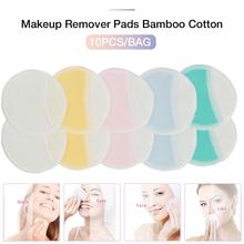 10pcs Reusable Makeup Remover Pads Discs Washable Cosmetic for All Skin Types