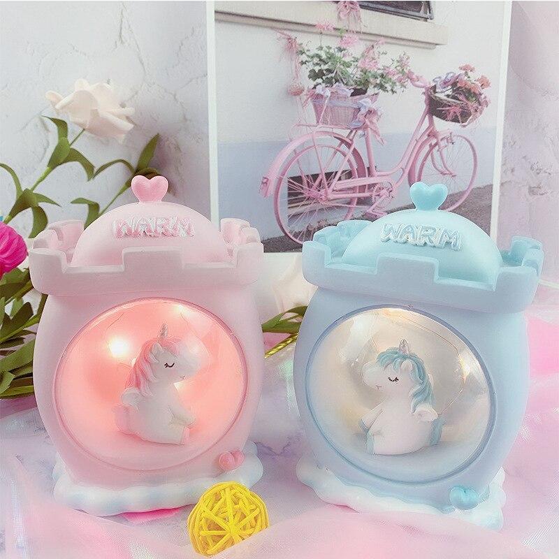 LED Night Light Cartoon Unicorn Lamp Baby Nursery  Novetly Light Baby Kids Bedroom Decor Desktop Lamps Birthday Christmas Gift