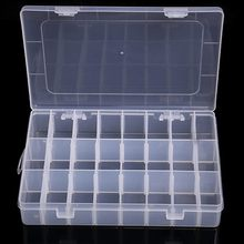 Transparent 10/15/24 Grid Storage Box Organizer Case Cajas Organizadora Storing Plastic Box Jewelry Beads Pill Screw Organizador(China)