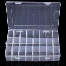 Transparent 10/15/24 Grid Storage Box Organizer Case Cajas Organizadora Storing Plastic Box Jewelry Beads Pill Screw Organizador