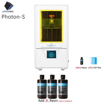 ANYCUBIC 3D Printer Photon-S LCD Upgraded UV Module 405nm Matrix UV Light Dual Z axis SLA 3d Printer PhotonS Plus Size 1