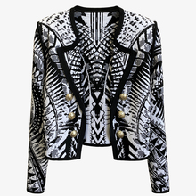 HIGH QUALITY Newest 2021 Designer Stylish Jacket Women's Lion Buttons Zebra Jacquard Knit Cardigan