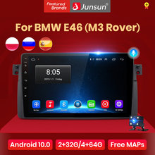 Junsun V1 Android 10.0 Ai Voice Control Autoradio Multimidia Video Speler Gps Voor Bmw E46 Coupe (M3 Rover) 316i 318i Geen 2din Dvd