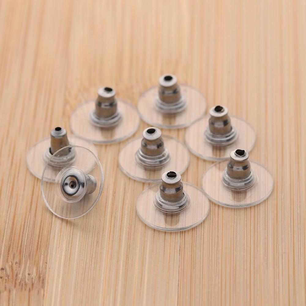 50 шт/лот серьги из нержавеющей стали заглушка для задней панели