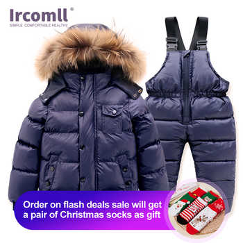 Ircomll Hight Quality Russia Winter Child Clothing Set Thick Cotton Down Waterproof Windproof Children Clothes Snow Wear Ski Su - DISCOUNT ITEM  56 OFF Mother & Kids