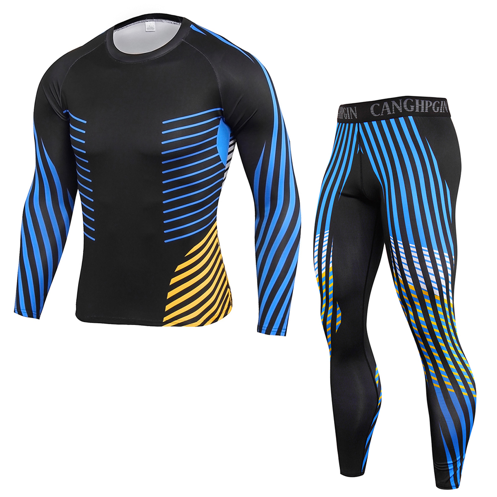 2021 winter high-quality new thermal underwear men's underwear suit compression sweat-absorbent quick-drying thermal underwear m