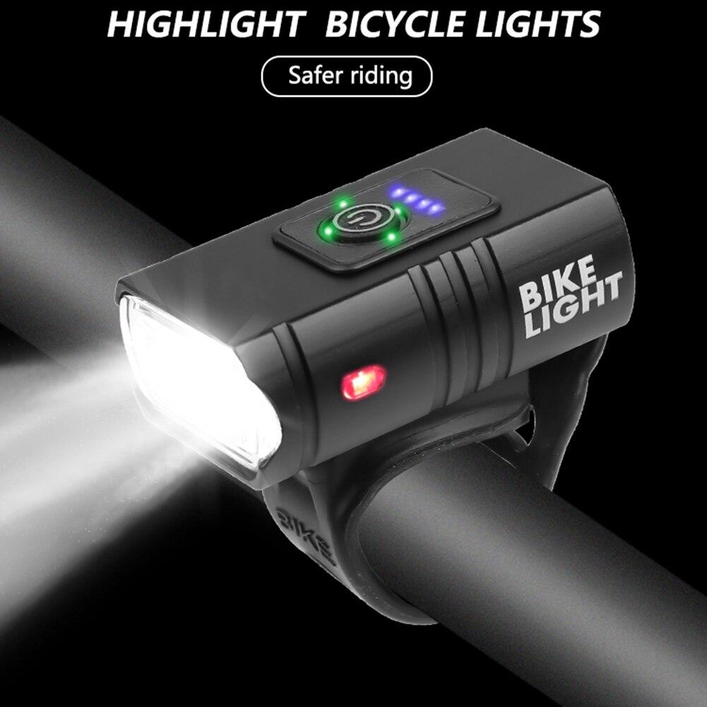 Lâmpada led 10w 800lm 6 modos de exibição energia da bicicleta frente lâmpada ciclismo equipamentos para noite iluminação estar iluminação