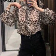 Женская Полупрозрачная рубашка xnwmnz za с принтом животных