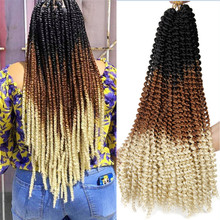 Synthetic Crochet Braids Hair Passion Twist Hair 22 Inches Bohemian Water Wave Afro Kinky Twist Ombre Braiding Hair Products