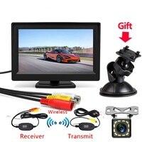 Neue 5 Zoll Auto Rückfahr Kamera Kit Back Up Auto Monitor LCD Display HD Auto Rückansicht Kamera Parkplatz System sender drahtlose