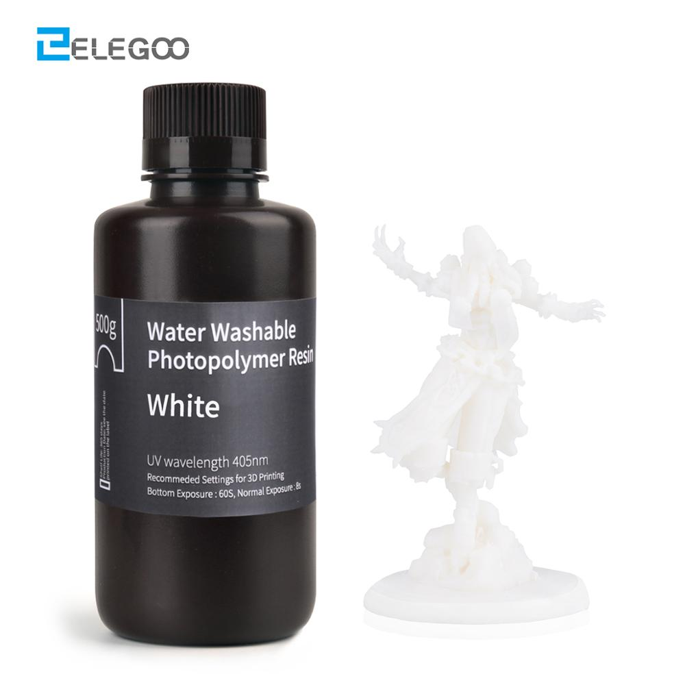ELEGOO Water Washable 3D Printer Resin LCD UV-Curing Resin 405nm Standard Photopolymer Resin for LCD