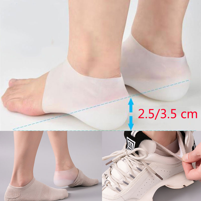 Heel Pain Gel Pads Heel Cups Plantar Fasciitis Inserts Gel Heel Pads Cushion For Pain Heal Dry Cracked Heels Achilles Tendinitis