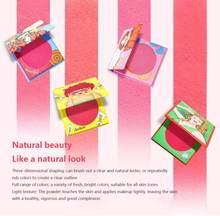 Novo Blusher Powder Rouge Cheek Peach Colorete makijaż dziewczyna Imagic kosmetyki Blush Eye Shadow Face puder prasowany TSLM1