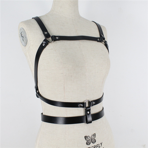 Image 5 - UYEE Dropshipping Fashion Women Garters High Quality Leather Harness Sexy Lingerie Belts Body Bondage Erotic Dress Straps LB 142